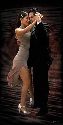 Digital Art - La Boca Tango by Joan  Minchak