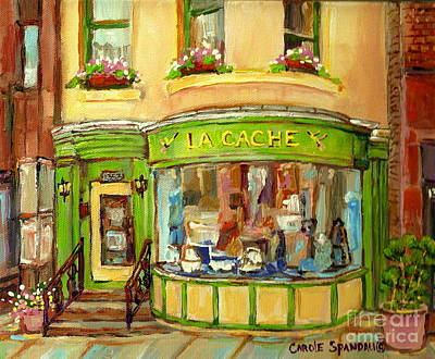 Painting - La Cache Boutique On Greene Beautiful Paintings Storefronts Street Scenes Home Decor Art C Spandau by Carole Spandau