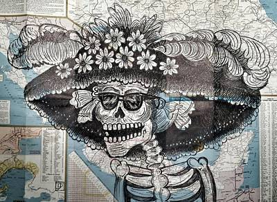 New Mexico Drawing - La Calavera by John Parish
