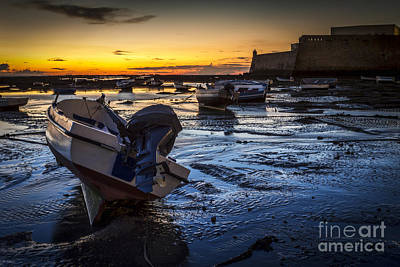 La Caleta Beach Cadiz Spain Art Print