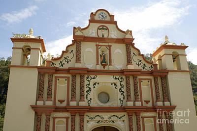 Photograph - La Campa Church Facade Honduras by John  Mitchell