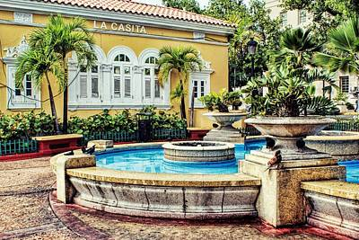 Photograph - La Casita Fountain by Leanna Lomanski