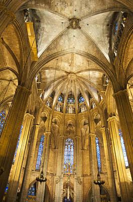 La Catedral Barcelona Cathedral Art Print by Matthias Hauser