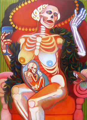 Badass Painting - La Catrina by Deenie Wallace