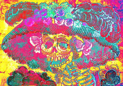 Calavera Digital Art - La Catrina by J- J- Espinoza