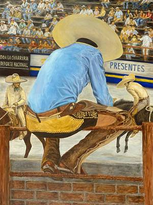 Mexican Cowboy Painting - La Charreria by Pat Haley