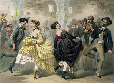 Partying Painting - La Closerie De Lilas by Charles Vernier