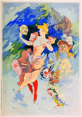 Jules Mixed Media - La Comedie - Panneau Decoratif by Charlie Ross