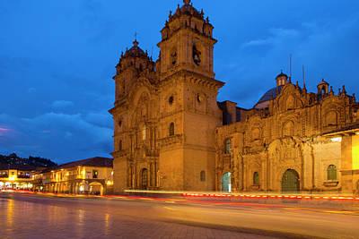 Jesus Photograph - La Compania De Jesus, Church, Plaza De by Douglas Peebles