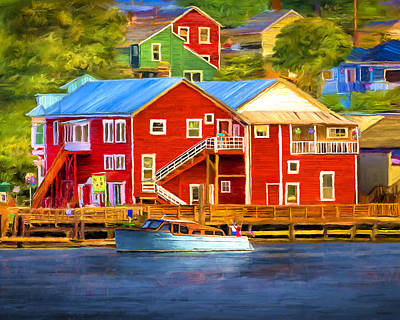 La Conner Waterfront Original by David Wagner