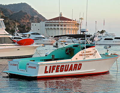 Photograph - L A County Lifeguard Boat by Jeff Gater