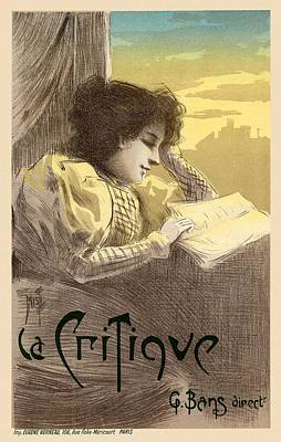 La Critique Art Print by Gianfranco Weiss