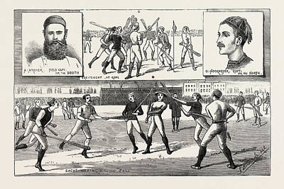 Cricket Drawing - La Crosse Match, Played Last Saturday At Kennington Oval by English School