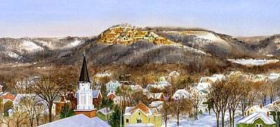 Painting - La Crosse Winterscape by Phyllis Martino