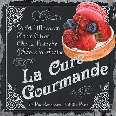 Paris Food Antique Market Painting - La Cure Gourmande by Debbie DeWitt