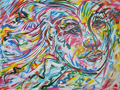 Mexicano Painting - La Dama Longoria by Jimmy Longoria