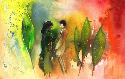 Painting - La Dame En Noir 02 by Miki De Goodaboom