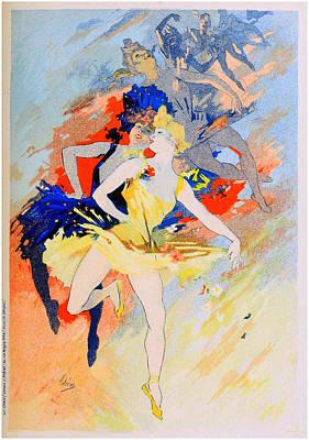 Jules Mixed Media - La Danse - Panneau Decoratif by Charlie Ross