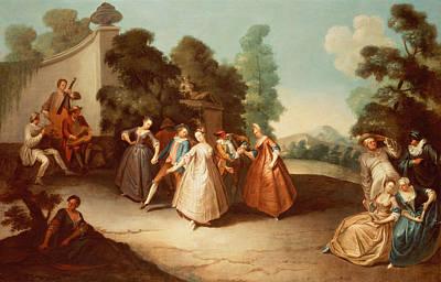 La Danse Art Print by Philippe Mercier