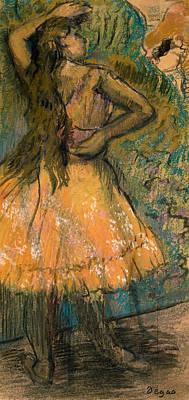 Dancing Girl Painting - La Danseuse by Edgar Degas