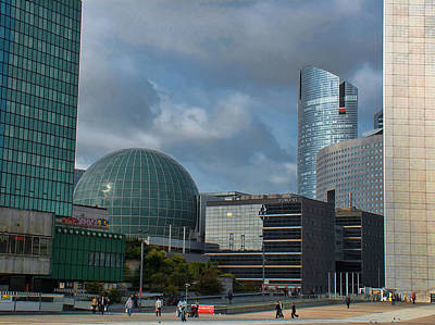 Liberte Photograph - La Defense Architecture by Paris  France