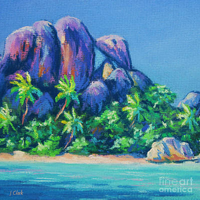 Oceania Painting - La Digue Square by John Clark