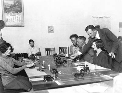 Excellence Photograph - La Drivers' License Test by Underwood Archives