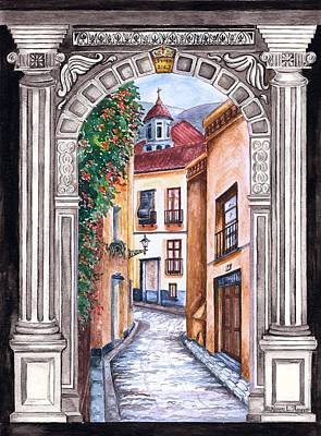 La Entrada The Entrance Art Print