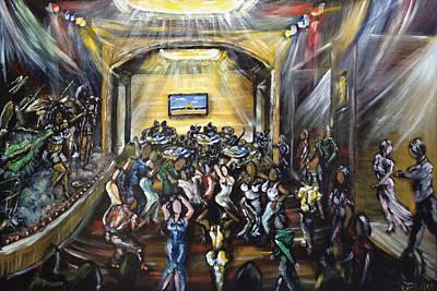 Merengue Painting - La Escena Del Baile by Ka-Son Reeves