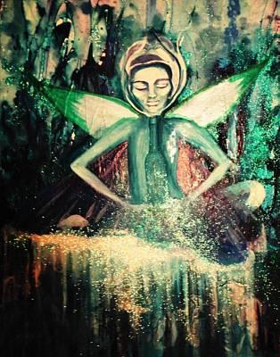 La Fee Verte Art Print by Mlle Marquee