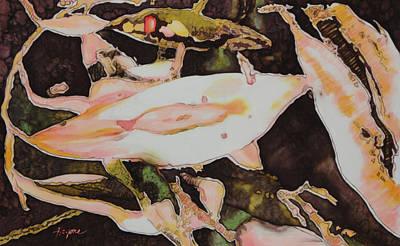 Painting - La Femme by Artimis Alcyone
