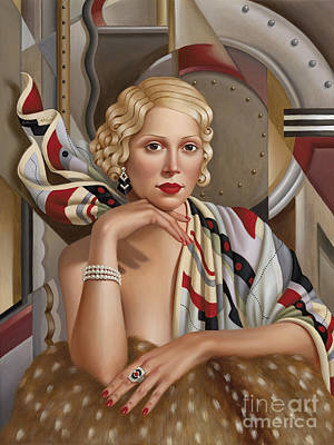 Ring Painting - La Femmeen Soiehi  by Catherine Abel
