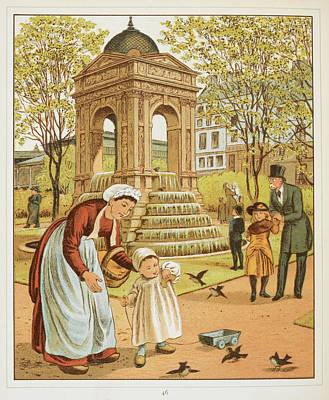 La Fontaine Des Innocents Art Print by British Library