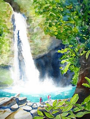 La Fortuna Waterfall Art Print by Carlin Blahnik
