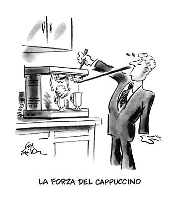 La Forza Del Cappuccino Art Print by Ed Fisher