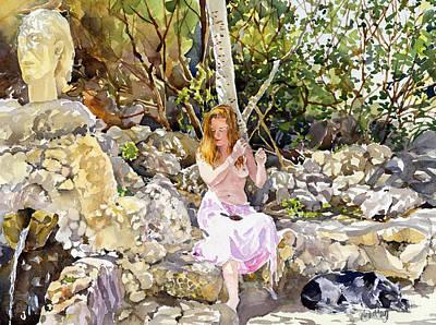 Nudes Painting - La Fuente De San Pedro by Margaret Merry