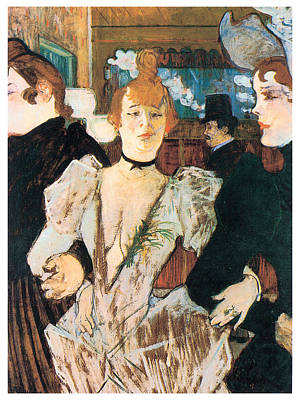 La Goule Arriving At The Moulin Rouge With Two Women Art Print by Henri Toulouse-Lautrec