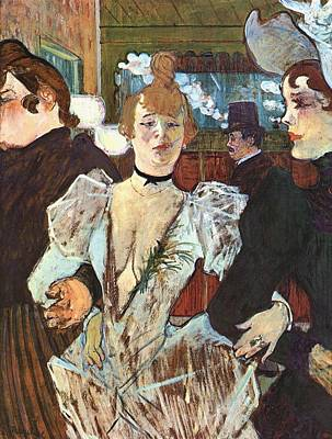 French Painting - La Goulue Arriving At The Moulin Rouge by Toulouse-Lautrec