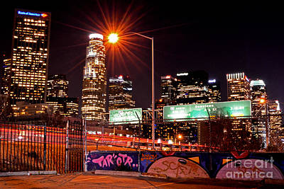 Photograph - La Graffitied Skyline by Third Eye Perspectives Photographic Fine Art