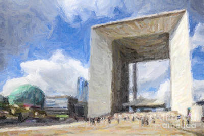 Digital Art - La Grande Arche by Liz Leyden