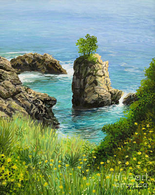 Painting - La Grotta - Island Of Corfu by Kiril Stanchev