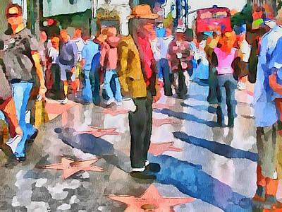 La Hollywood Alley Artists Art Print by Yury Malkov