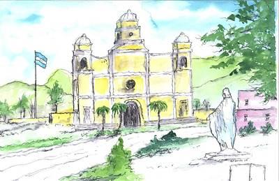 Painting - La Iglesia En Santa Barbara Honduras by Patrick Grills