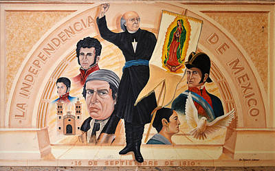 Mural Photograph - La Independencia De Mexico by Christine Till