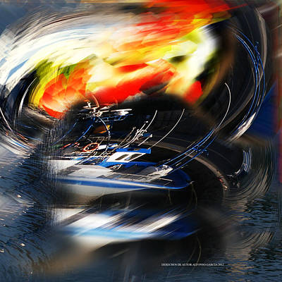 Digital Art - La Ira De Neptuno by Alfonso Garcia