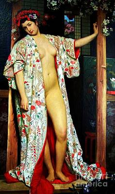 Painting - La Japonaise Au Bain by Pg Reproductions