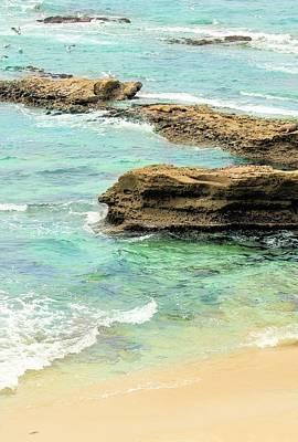 La Jolla Beach Rocks Art Print