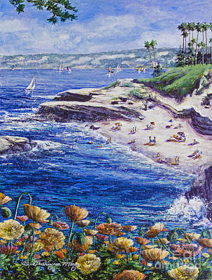 Painting - La Jolla Beach by Glenn McNary