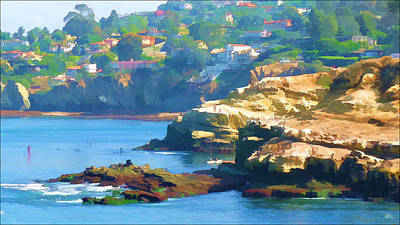 La Jolla California Cove And Caves Art Print