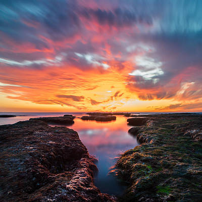 Stacks Photograph - La Jolla California Reflections - Square by Larry Marshall